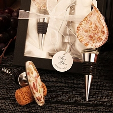 Teardrop Arte Murano Corkscrew/Bottle Stopper Set
