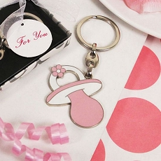 Perfect Pink Pacifier Shaped Key Chain
