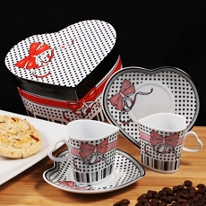 Ribbon Of Love Espresso Set