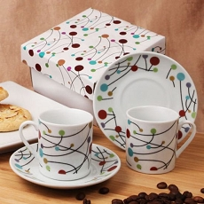 Polka Dot Swirls Espresso Set