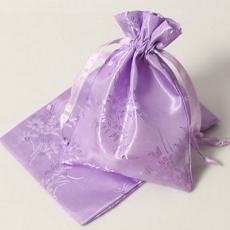 Satin Bag w/Drawstring Ribbon (Pack of 4)(4 colors)