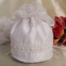 Satin Purse White Bridal Purse