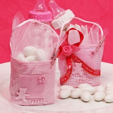 Baby Tote Bag Pink Favor Bag