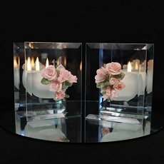 Bouquet of Roses Mirrored Glass Candle(Assorted)