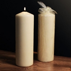Ivory Tower Large Pillar Candle