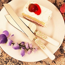 Floral Flourish Floral Cake Knife/Server Set