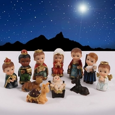 O Holy Night Polyresin Children's Nativity Set (11 Piece)