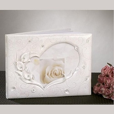 Calla Lily Guest Book with Crystal Accents