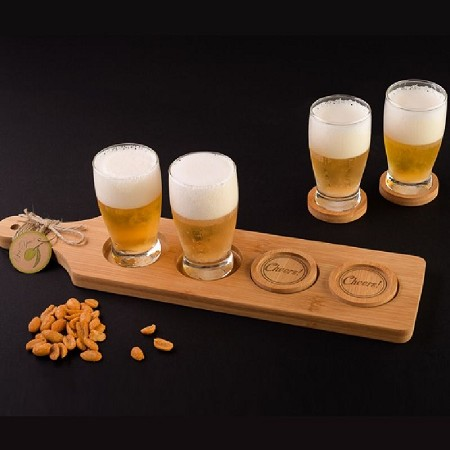 Cheers! Beer Flight - Tasting Paddle w/Coasters