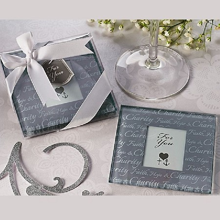 Faith, Hope & Charity Photo Coasters (Set of 2)