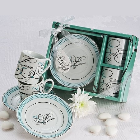 Expressions of Love Espresso Cup Favor Set (In White)
