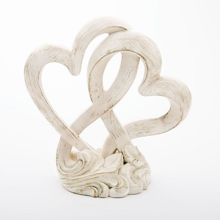 Vintage Style Double Heart Cake Topper/Centerpiece