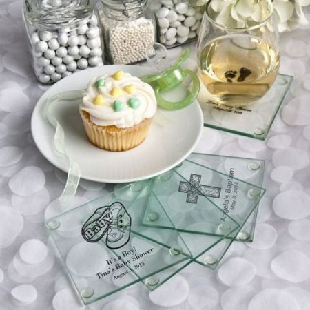 Personalized Glass Coasters - Baby