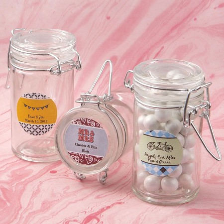 Personalized Collection Apothecary Jar Favor