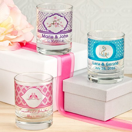 Clearly Custom Round Shot Glass/Votive Candle Holder