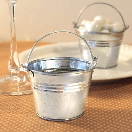 Miniature Galvanized Buckets From Fashioncraft