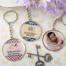 Personalized Expressions Collection Epoxy Dome Metal Key Chain - Baby