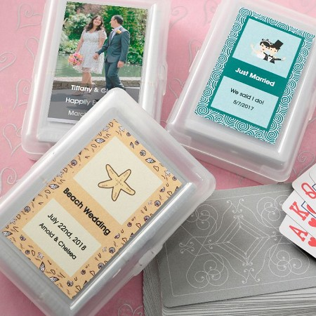 Personalized Playing Cards w/Designer Top