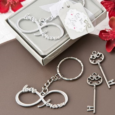Infinity Design Silver Metal Key Chain