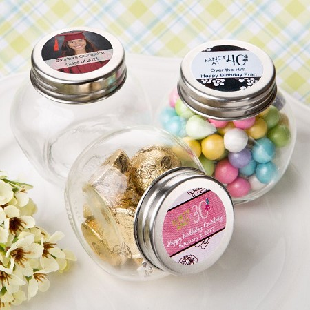 Personalized Glass Jar-Celebrate