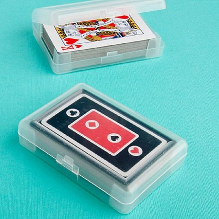 Perfectly Plain Collection Playing Card Favors - Plastic Case