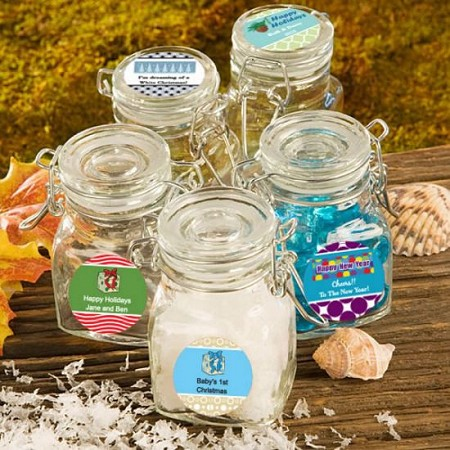 Personalized Apothecary Jars -Holiday