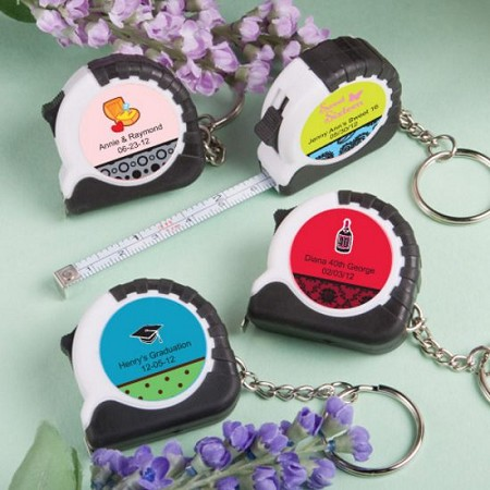 Personalized Key Chain/Measuring Tape-Celebrate
