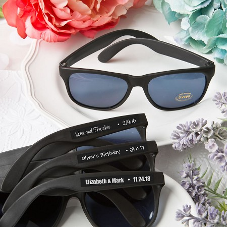 Personalized Expressions Cool Black Sunglasses