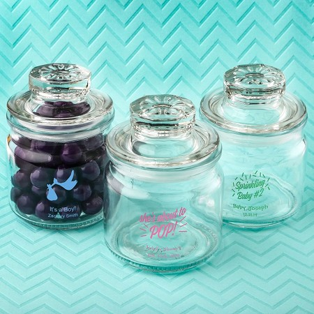 Screen Printed Glass Jar With Sealed Cover - Baby