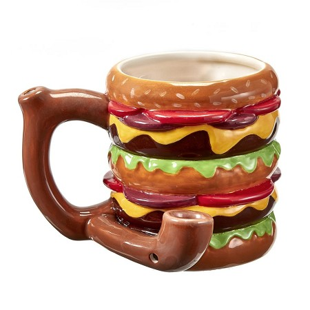 Cheeseburger Pipe Mug From Gifts By Fashioncraft