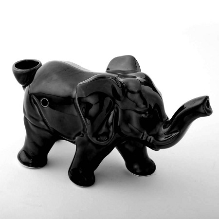 Elephant Novelty Pipe - Black Color