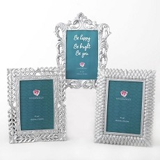 Pearl Silver 4X6 Frames - 3 Assorted Styles