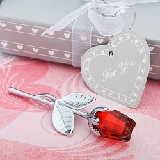 Crystal  Collection Red Rose Favors