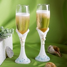 Beach Themed Champagne Flutes