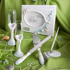 Engraved Beach Themed Wedding Day Accessories