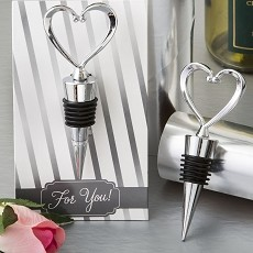 All Metal Heart Wine Bottle Stopper From Fashioncraft