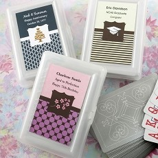 Personalized Playing Cards w/Designer Top-Celebrate