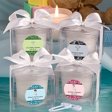 Personalized Baptism Collection Candle Favors