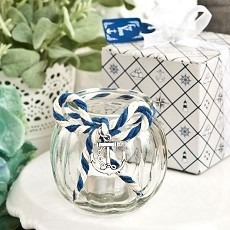 Anchor Nautical Themed Globe Candle Holder