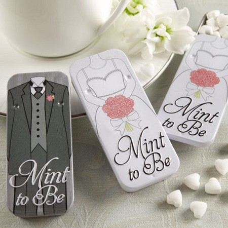 Mint to Be Bride and Groom Slide Mint Tins -Kate Aspen