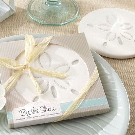 By the Shore Sand Dollar Coaster-Kate Aspen