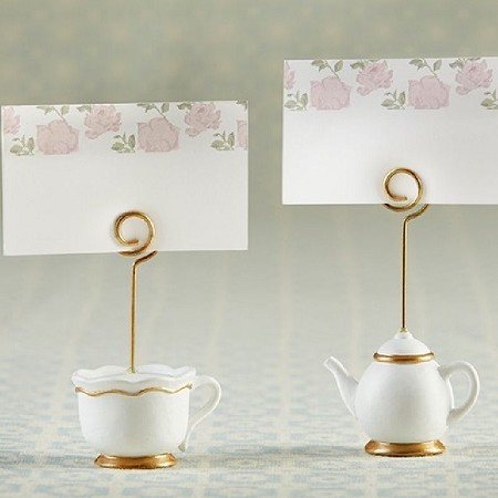 Tea Time Whimsy Place Card Holder (Set of 6)-Kate Aspen