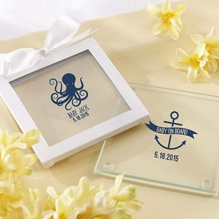 Personalized Glass Coasters-  Nautical Baby  (12)-Kate Aspen