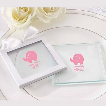 Personalized Glass Coaster - Little Peanut (Set of 12)-Kate Aspen