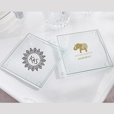 Personalized Glass Coaster - Indian Jewel (Set of 12)