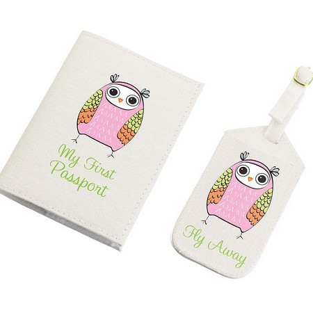 Pink Owl Tag & Passport