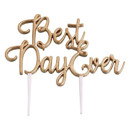 Lillian Rose Gold Best Day Ever Wedding Cake Topper