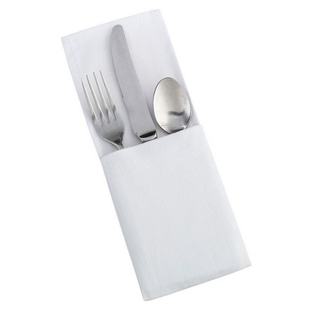 Set of 4 White Silverware Holders(can be personalized)