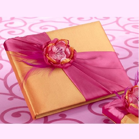 Lillian Rose Hot Pink and Orange Guest Book