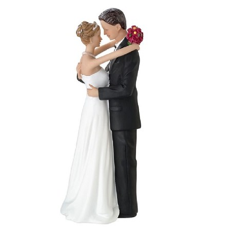 Lillian Rose Bride and Groom Dancing Figurine Caucasian